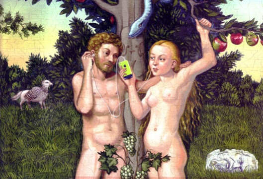Adam. Eve. Apple.