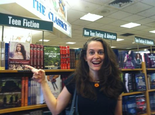 Melinda wants to take this picture from every bookstore in New York.