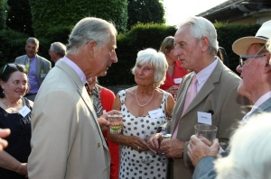 Waiting (behind Prince Charles) for my turn with HRH [photo by Paul Burns Photography, Limited]