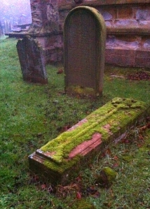 "I think that gravestone says ""Tired of waiting for the dog to find an acceptable place to piddle"""