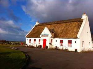 The only thatched roof cottage we passed turned out to be a fake for tourists.