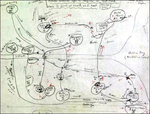 Fact. When Joyce first published Ulysses, nobody could understand it. He had to send out a cheat sheet listing the various clues connecting the wanderings of his hero Leopold Bloom with those of the classical Ulysses. Many ended up doing what Vladimir Nabokov did to keep track, and creating his own map of Bloom's route.