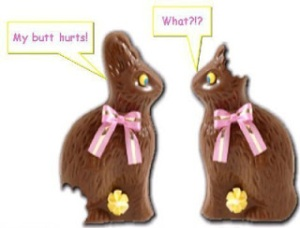 """Who ate my chocolate bunny's ears?"" The first of the Easter Questions"