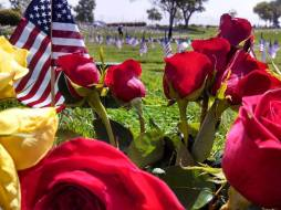 Riverside National Cemetery participates in the Flag for Every Hero program, http://www.honoringourfallen.org/