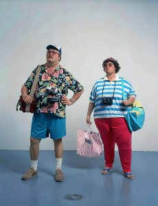 The American Tourist according to sculptor Duane Hanson [photo credit The Saatchi Gallery]