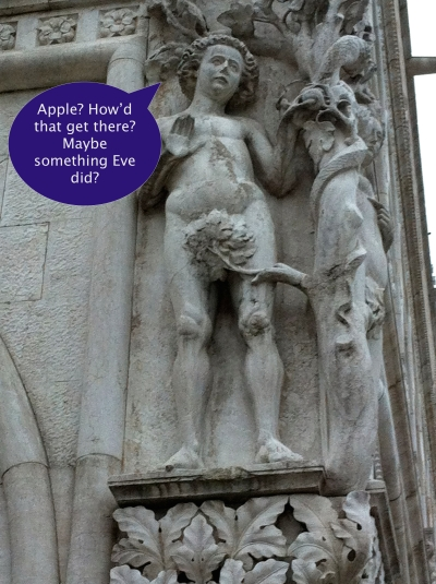 Adam and Eve, Doge's Palace, Venice