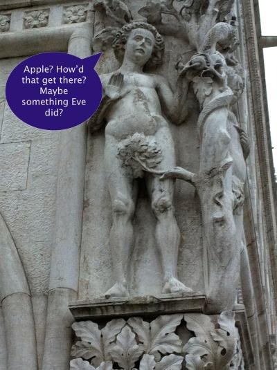 Adam and Eve, Doge's Palace, Venice