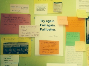 June's writing wall of inspiration!