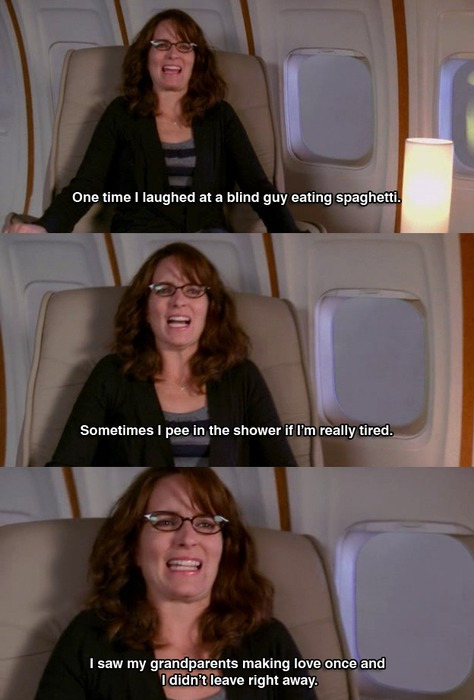 Things you learn from Tina Fey when your plane hits turbulence