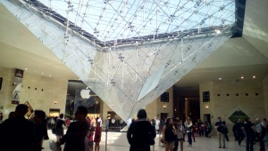 You even know there's an Apple store in the lobby of the Louvre.
