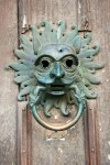 The Green Man--Sanctuary knocker, Durham Cathedral, UK