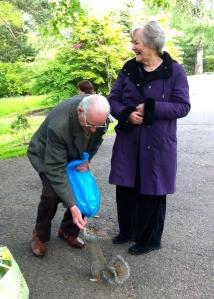 Rena and Hamish Robertson (and friend), Botanic Gardens, Glasgow