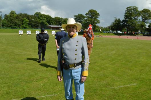 Hamish Robertson of Glasgow Archers at last year's shooting of the American.