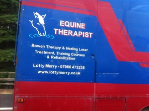 (Fellow travellers.)  Horses and dogs. In England, they get it...