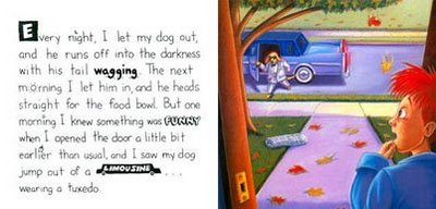 Inside page dog book