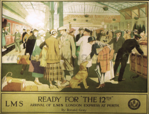 [poster] 'LMS Ready for the 12th' by Ronald Gray, 1924