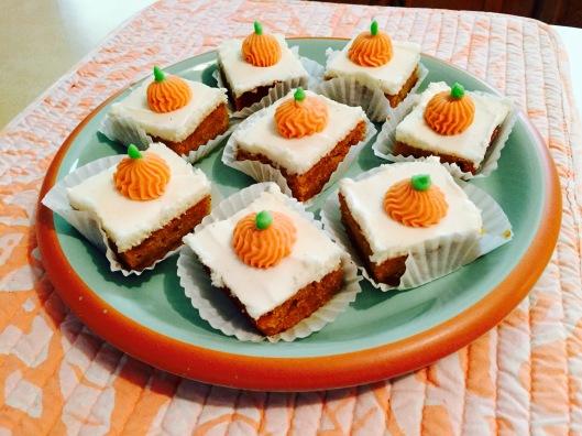 Pumpkin spice petit fours