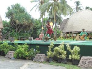 Samoan fire dancer at the Polynesian Cultural Center on Oahu