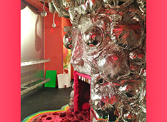 """Visionary art as defined for the purposes of the American Visionary Art Museum refers to art produced by self-taught individuals, usually without formal training, whose works arise from an innate personal vision that revels foremost in the creative act itself."" [image credit: Wayne Coyne, detail: The King's Mouth, sculpture/installation, Photo: John Lewis]"