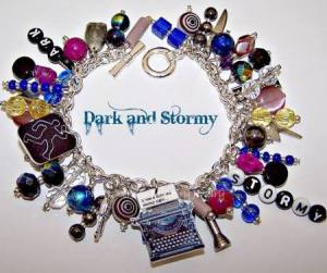 Dark and stormy night? Thriller/Mystery writers might be interested in this bracelet which contains everything from a tiny typewriter producing the iconic phrase to all the weapons Clue and beyond. (£34.13 from ptierneydesigns on Etsy) http://www.theliterarygiftcompany.com/hitchhikers-guide-to-the-galaxy-brooch-49700-p.asp