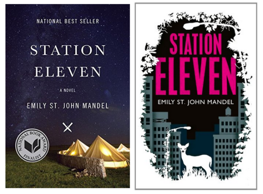 Station Eleven: US cover left, UK cover right [Image credit: Rightly Designed] http://rightlydesigned.com/us-vs-uk-popular-book-cover-design-styles/