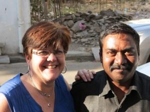Karen with Mr. Singh, their driver [(c) J. Roper]