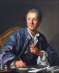 """When you write or act, think no more of the audience than if it had never existed. Imagine a huge wall across the front of the stage, separating you from the audience, and behave exactly as if the curtain had never risen."" 1758--Denis Diderot, French Philosopher [Image Credit: portrait by Louis-Michel van Loo, The Louvre]"