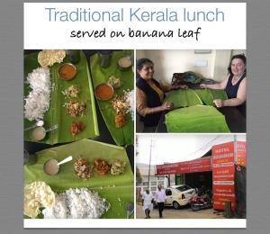 Large banana leaf lunch