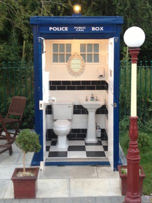 Toilet might be larger on the inside, but the light switch is still outside. [Image credit: BBC] http://www.bbc.co.uk/news/uk-england-bristol-28892903