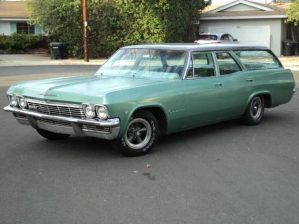 The Vomit-Comet, a Chevy Impala wagon painted (for reasons my father never revealed) mint green.
