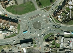Swindon's Magic Roundabout: 6 roundabouts, 38 arrows, and a couple of Americans who disappeared in there a few years back
