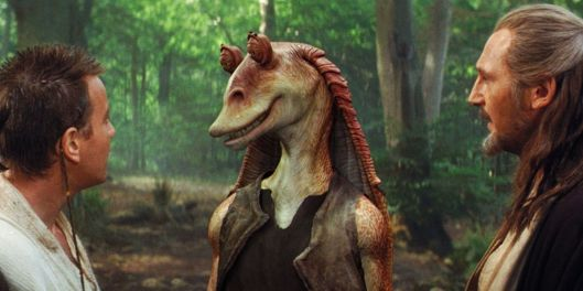JarJar Binks, Star Wars Episode 1 The Phantom Menace [image credit: screenrant.com] http://screenrant.com/worst-star-wars-characters-movies/?view=all