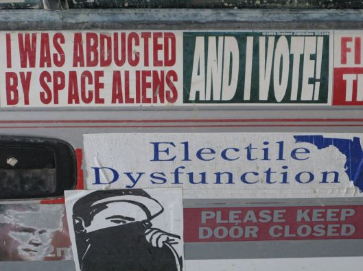 [image credit: HuffPost] http://www.huffingtonpost.com/2011/11/02/worst-bumper-stickers_n_1071929.html