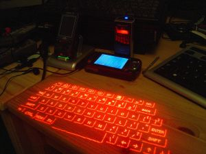 Just what you need in your yurt. [Image credit: Wikipedia] en:Image:ProjectionKeyboard.jpg