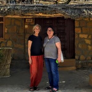 Laurie Kaslow & Barb Taub at Devi Desert Resort