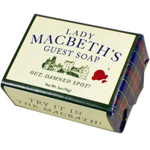 "**I can't be the only writer who wants a dog named Damn Spot JUST so I can tell him ""Out, Damned Spot."" [Image credit: The Literary Gift Company ] https://www.theliterarygiftcompany.com/collections/new/products/lady-macbeth-soap"