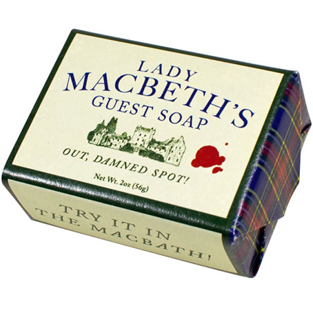 """**I can't be the only writer who wants a dog named Damn Spot JUST so I can tell him """"Out, Damned Spot."""" [Image credit: The Literary Gift Company ] https://www.theliterarygiftcompany.com/collections/new/products/lady-macbeth-soap"""