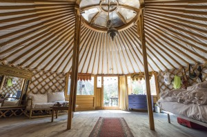Then another £1000 or so for a yurt here. http://www.woodlandyurts.co.uk/Woodland_Yurts/default.html (**doors, windows, woodstove, solar panels and SAT-phone extra...)