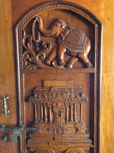 Incredibly carved hotel doors AND great wifi. Other than a kettle to boil water and a western toilet, what more do you really need?