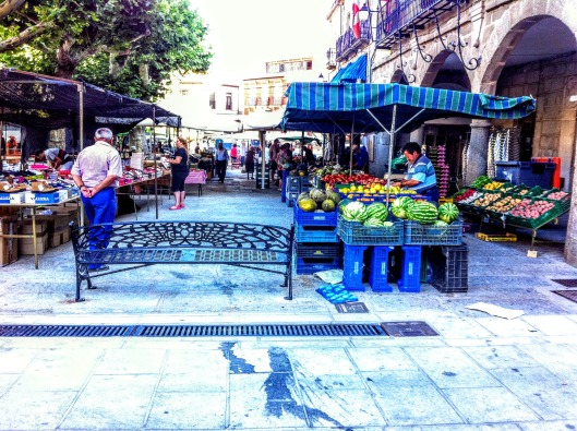 Market day in Piedrahita Spain